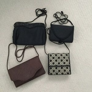Collection of four evening bags